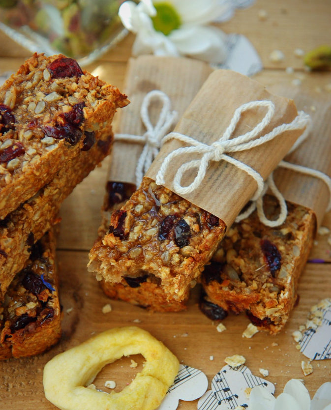 Chewy Apple and Cranberry Bars