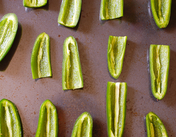Spicy jalapeno peppers with cashew cheese