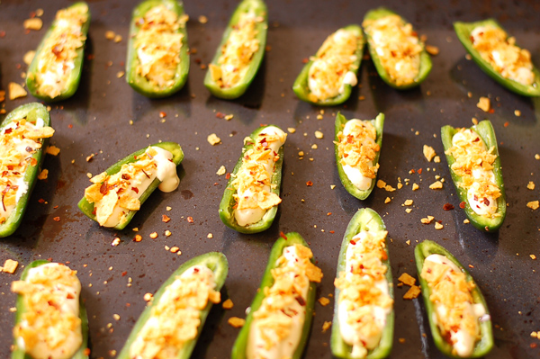Spicy Jalapeno Poppers with Cashew Cheese