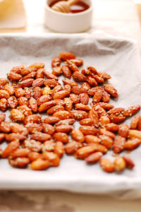 Crunchy Roasted Almonds in Maple Glaze