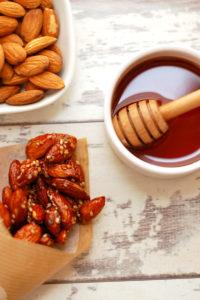Roasted Almonds in Sweet Almond Glaze