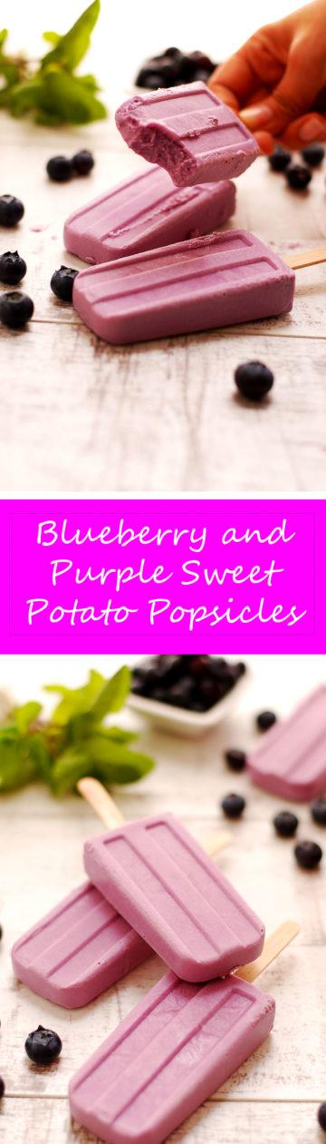 Blueberry and Purple Sweet Potato Vegan Popsicles!