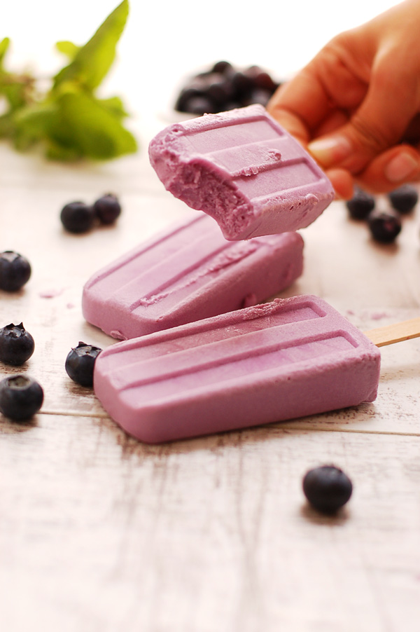 Purple Sweet Potato and Blueberry Yummy Popsicles!