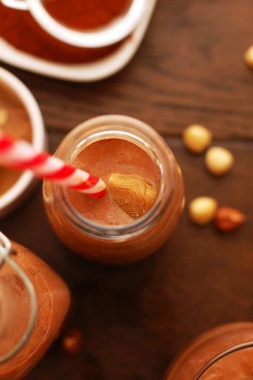 Hazelnut Chocolate Milk with Creamy Ice Cubes