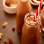 Chocolate Hazelnut Milk with Creamy Ice Cubes