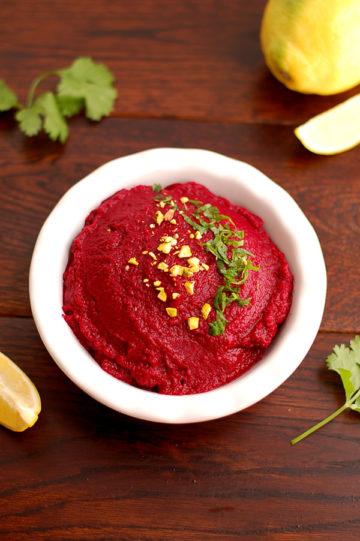 Yummy Roasted Beetroot Hummus