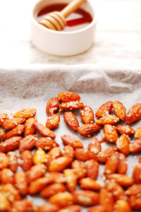 Maple Glazed Roasted Almonds
