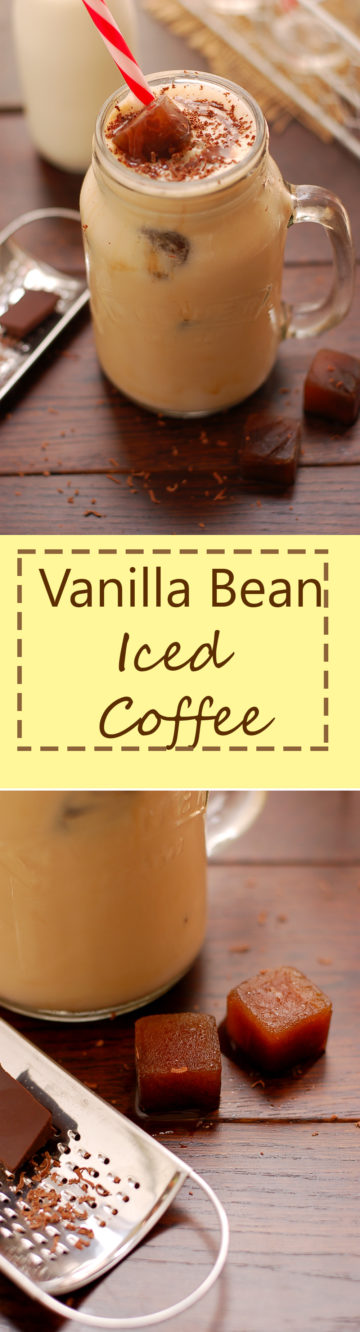 Yummy Vanilla Bean Iced Coffee. You will fall in love with it!
