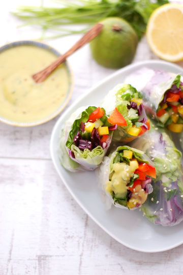 Vegetable Rolls with Lime Dressing