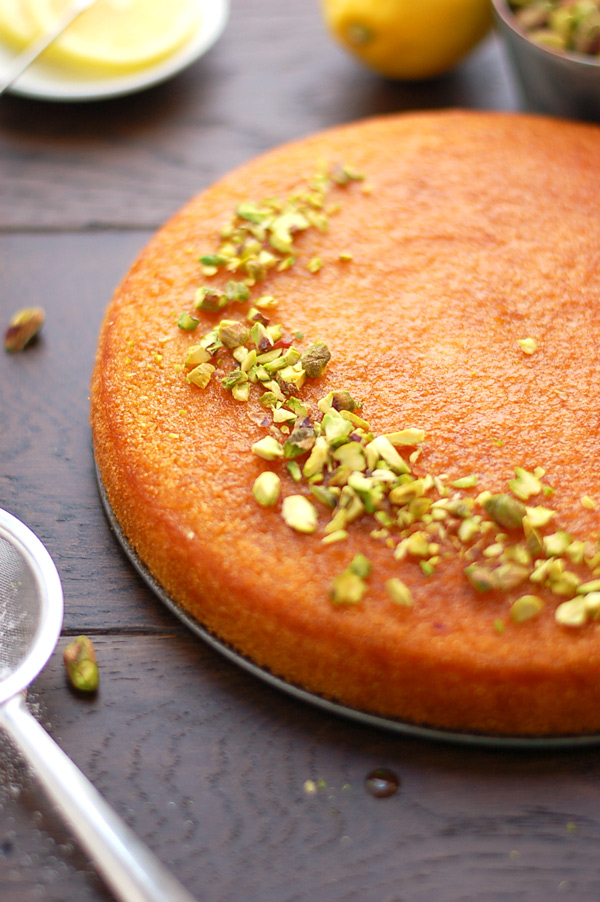 Delicious Lemon Basbousa-Cake