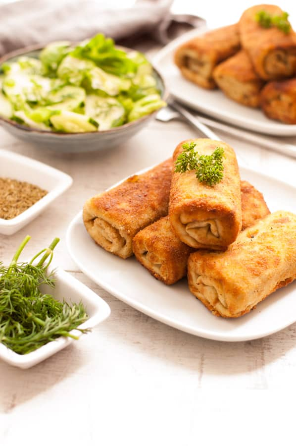 Traditional Cabbage and Mushroom Croquettes