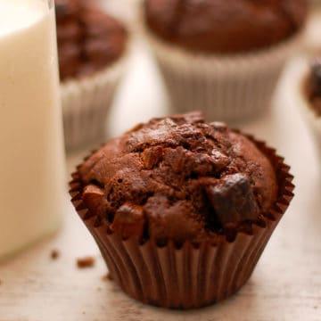 Double Chocolate Vegan Muffins
