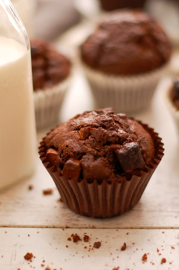Double Chocolate Vegan Muffins