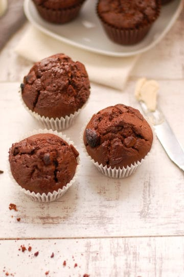 Yummy Double Chocolate Muffins
