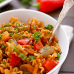 Spicy Mexican Pasta Bowl With Tomatoes