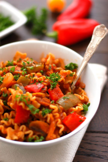 Spicy Pasta Bowl Mexican Style