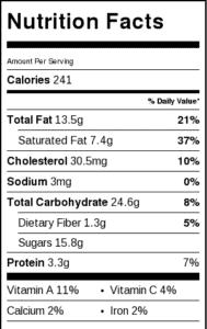 Raspberry Rose Financiers Nutritional Info