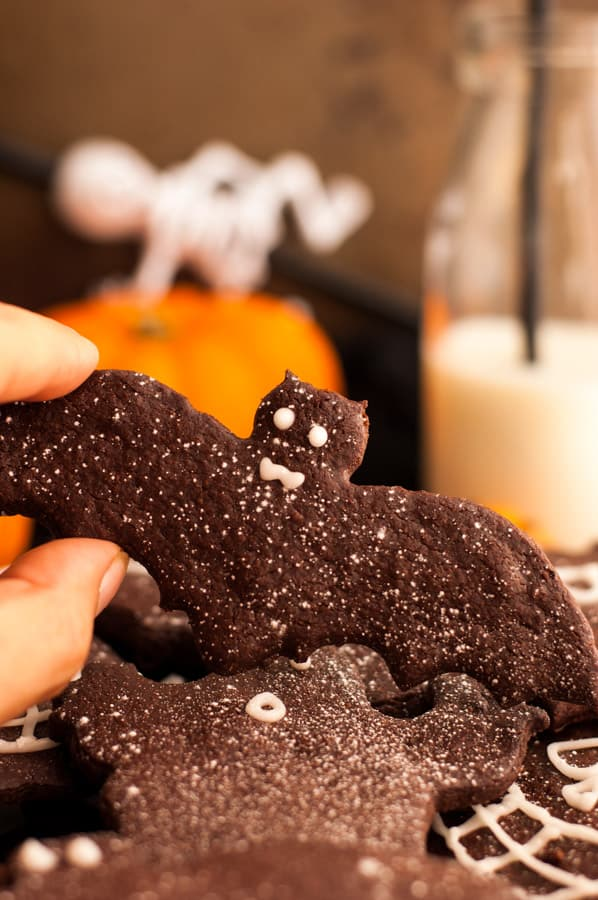 Halloween Chocolate Sugar Cookies