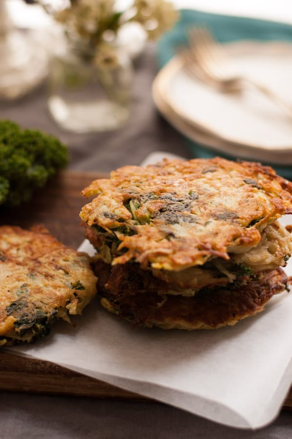 Potato Rosti with Kale and Cabbage. Perfect way to use all the leftover greens from Christmas table! via @annabanana.co