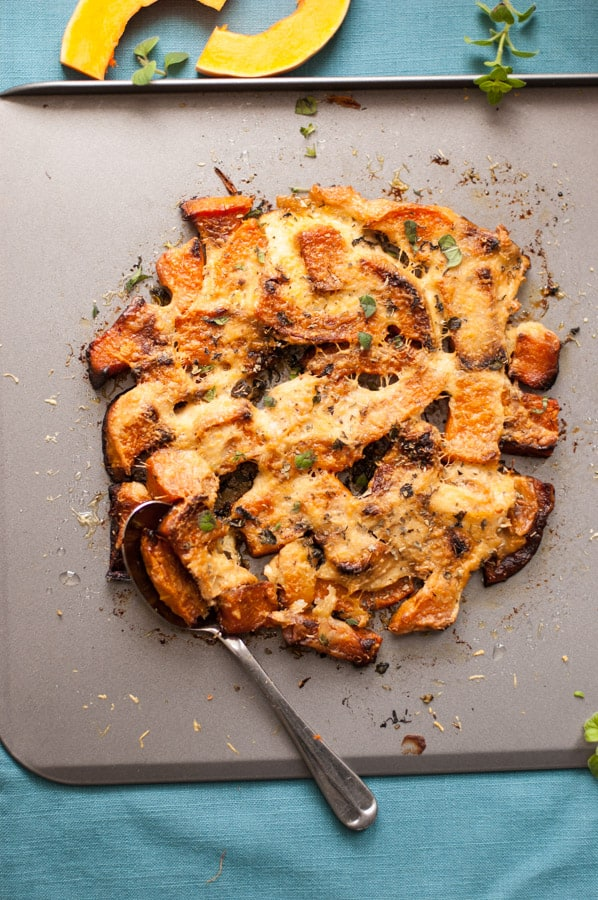 Baked Butternut Squash in Cheesy Crust. Perfect side dish for your Christmas table!