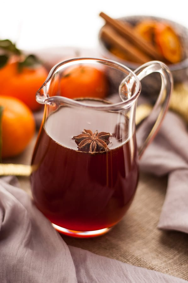 Clementine and cranberry cordial.