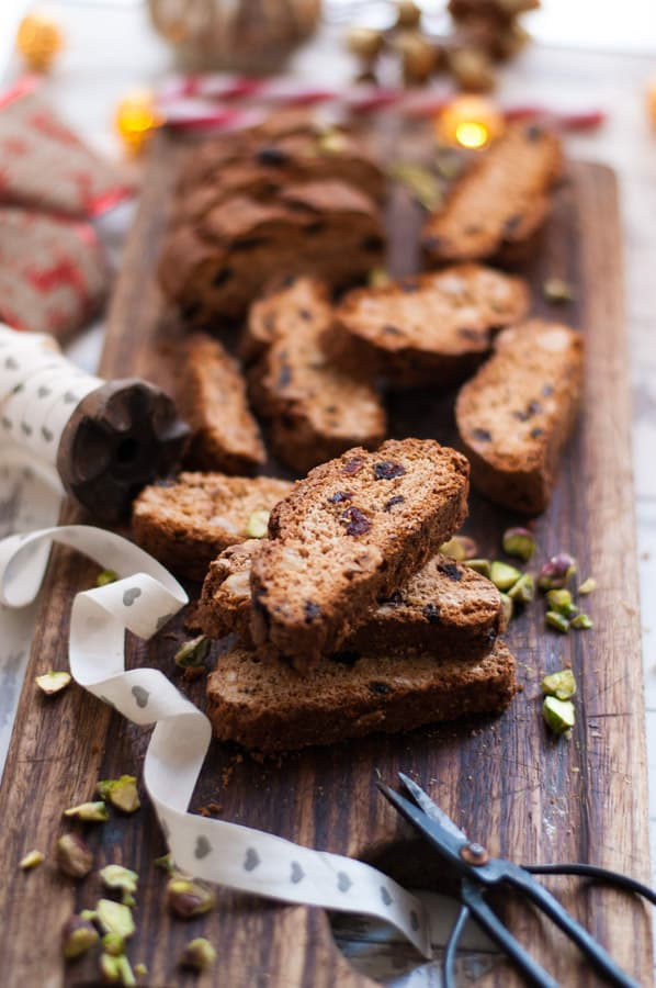 Cranberry and Amaretto Biscotti