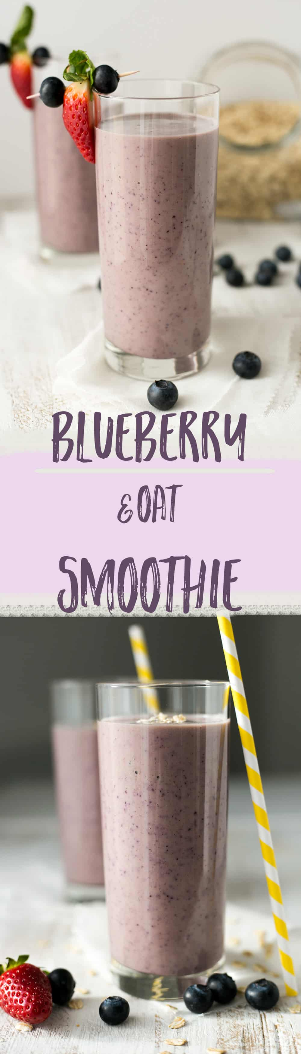 Classic blueberry & oat smoothie recipe. Quick, healthy and easy way to start your day! | via @annabanana.co