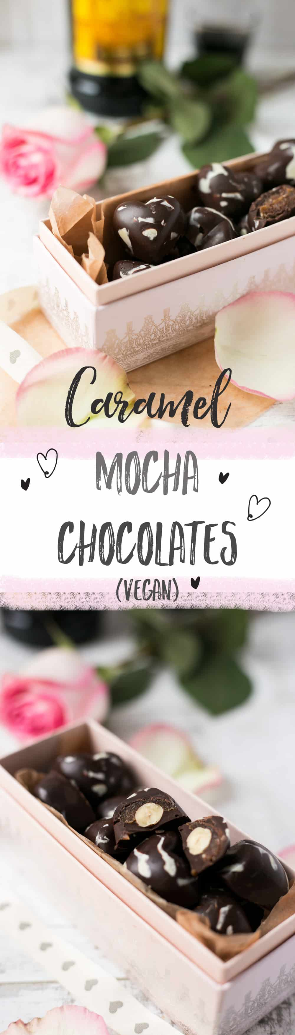 Caramel Mocha Chocolates. Perfect gift for Valentine's Day! | via @annabanana.co