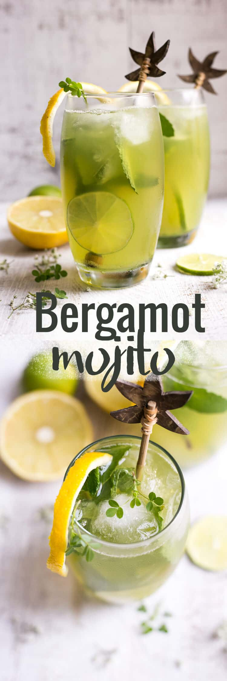 Beautifully fragrant bergamot mojito with fresh mint and Sorrento lemons | via @annabanana.co