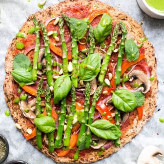 Cauliflower Pizza Crust (Vegan)
