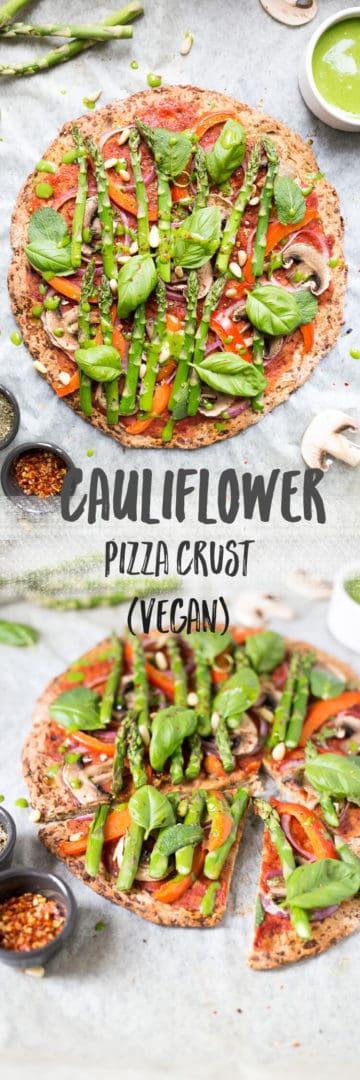 Easy cauliflower pizza crust recipe   via @annabanana.co