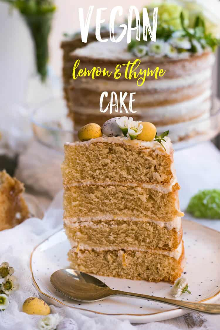 Vegan Lemon and Thyme Cake | via @annabanana.co