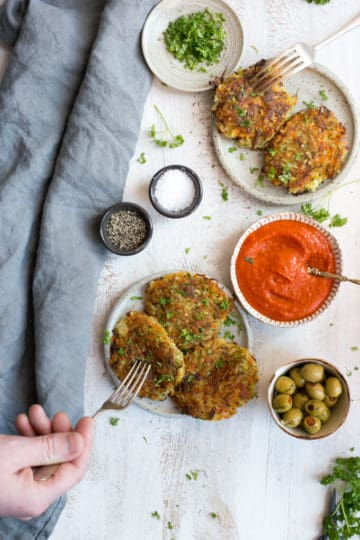 Vegetable Fritters with Smoky Salsa
