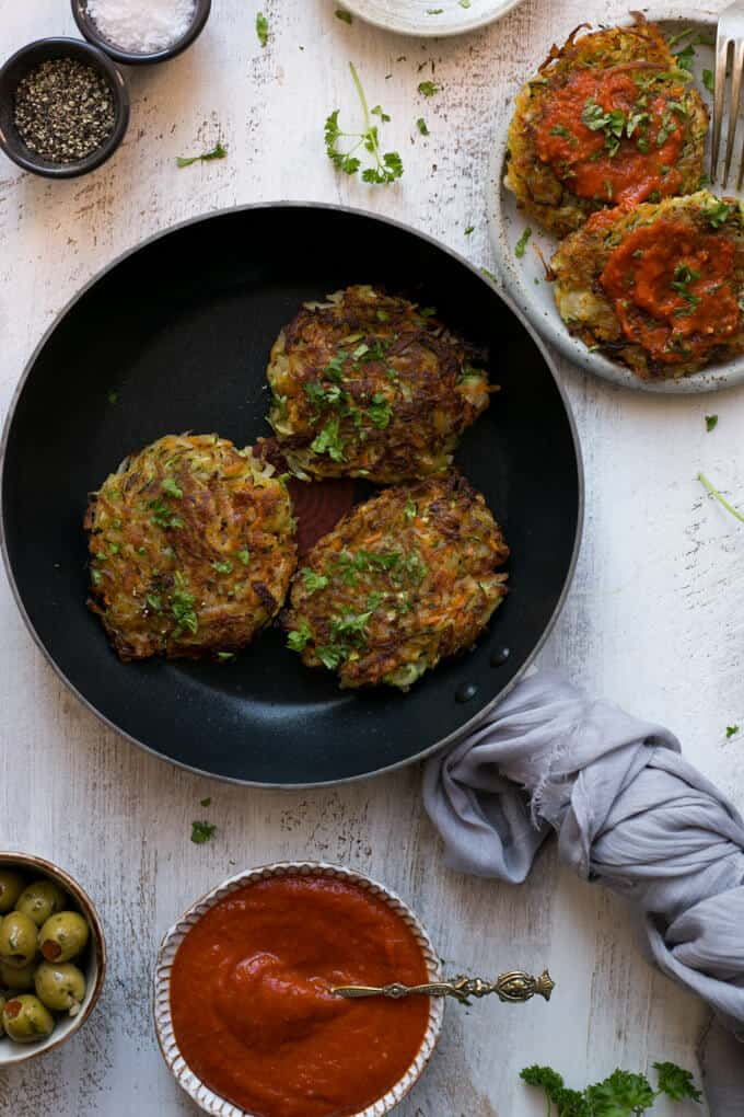 Vegetable Rosti with Smoky Salsa | via @annabanana.co