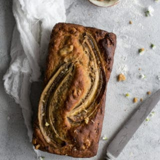 Rustic Banana Bread with yogurt