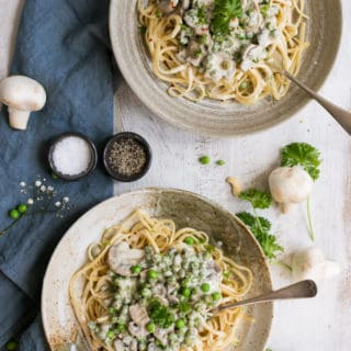Vegan Carbonara with Creamy Cashew Sauce