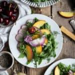 Peach and rocket salad with dill | via @annabanana.co