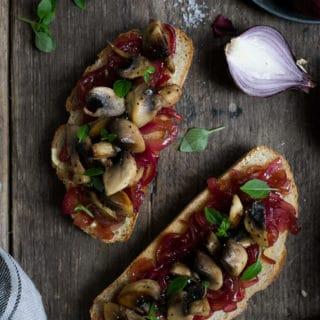 Red Onion Jam (+ Mushrooms on Toast)