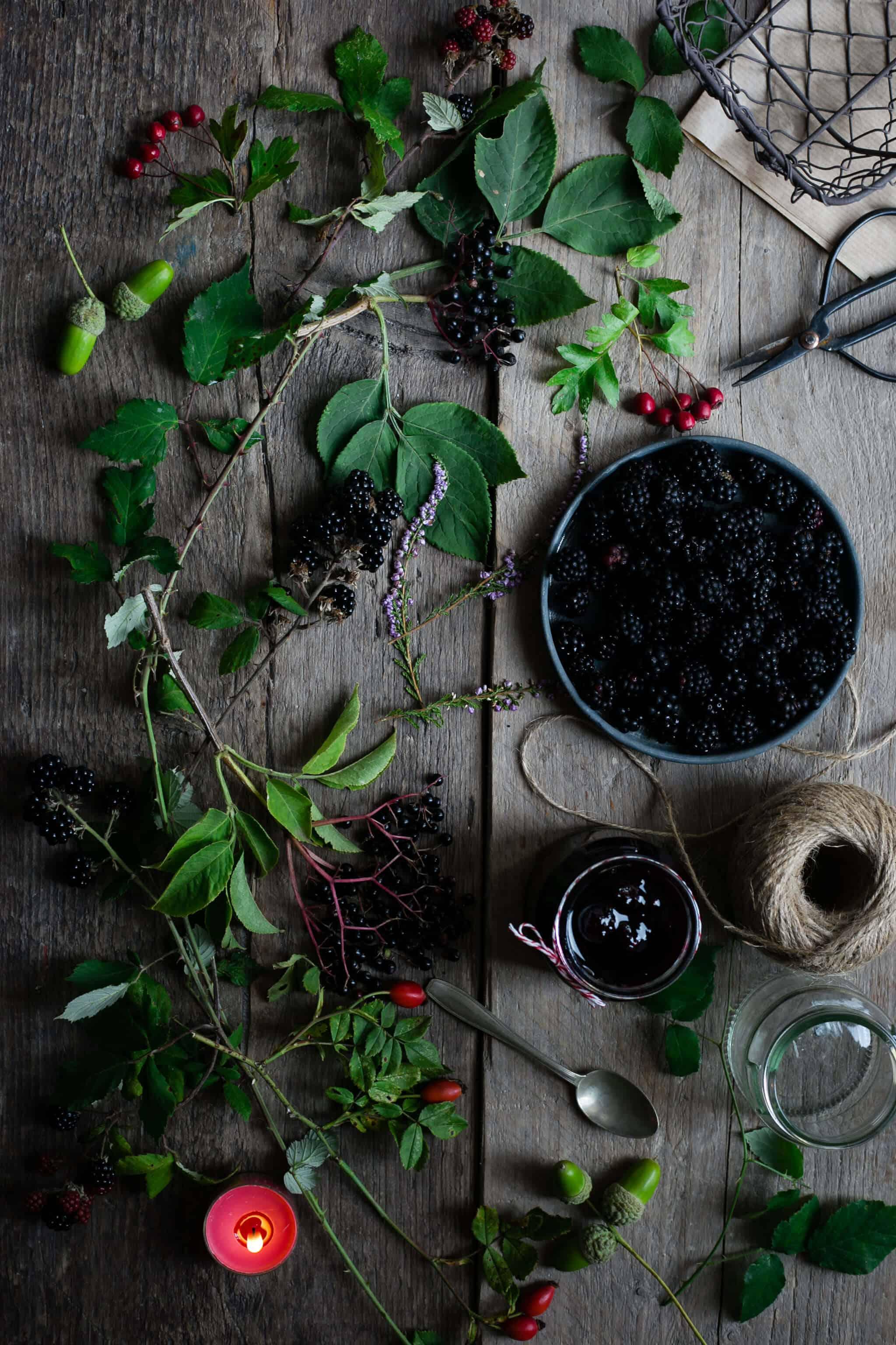 Berry jam lattice tart, made with wild blackberries | via @annabanana.co