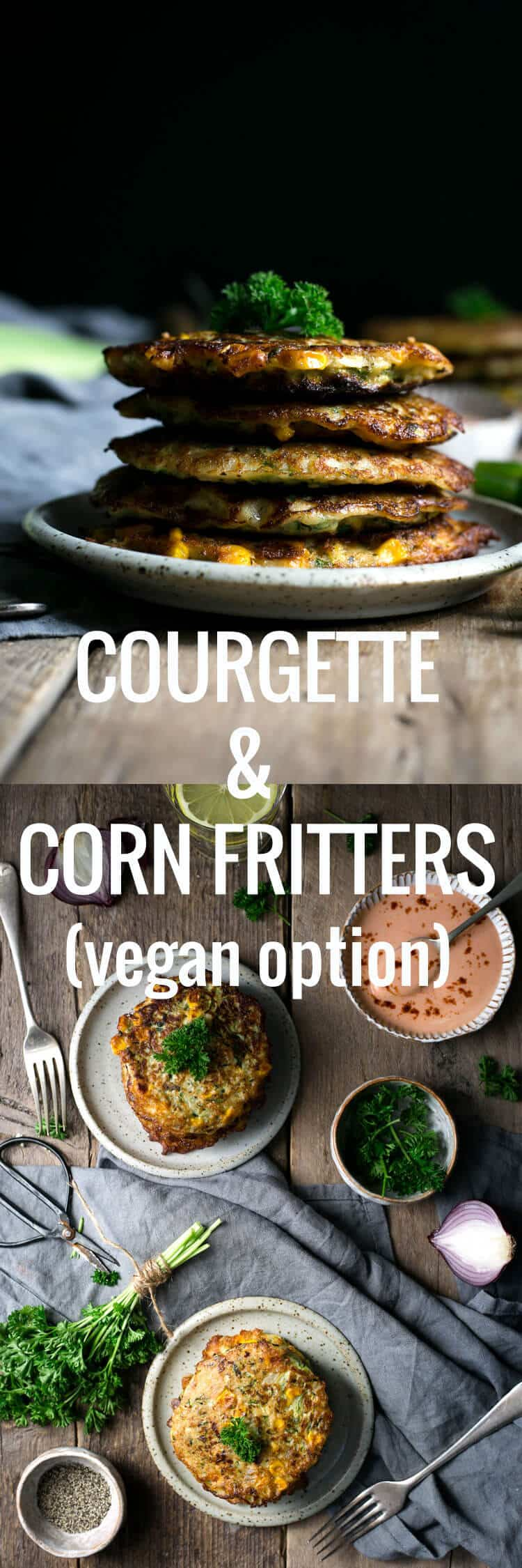 Delicious and easy recipe for courgette and corn fritters | via @annabanana.co