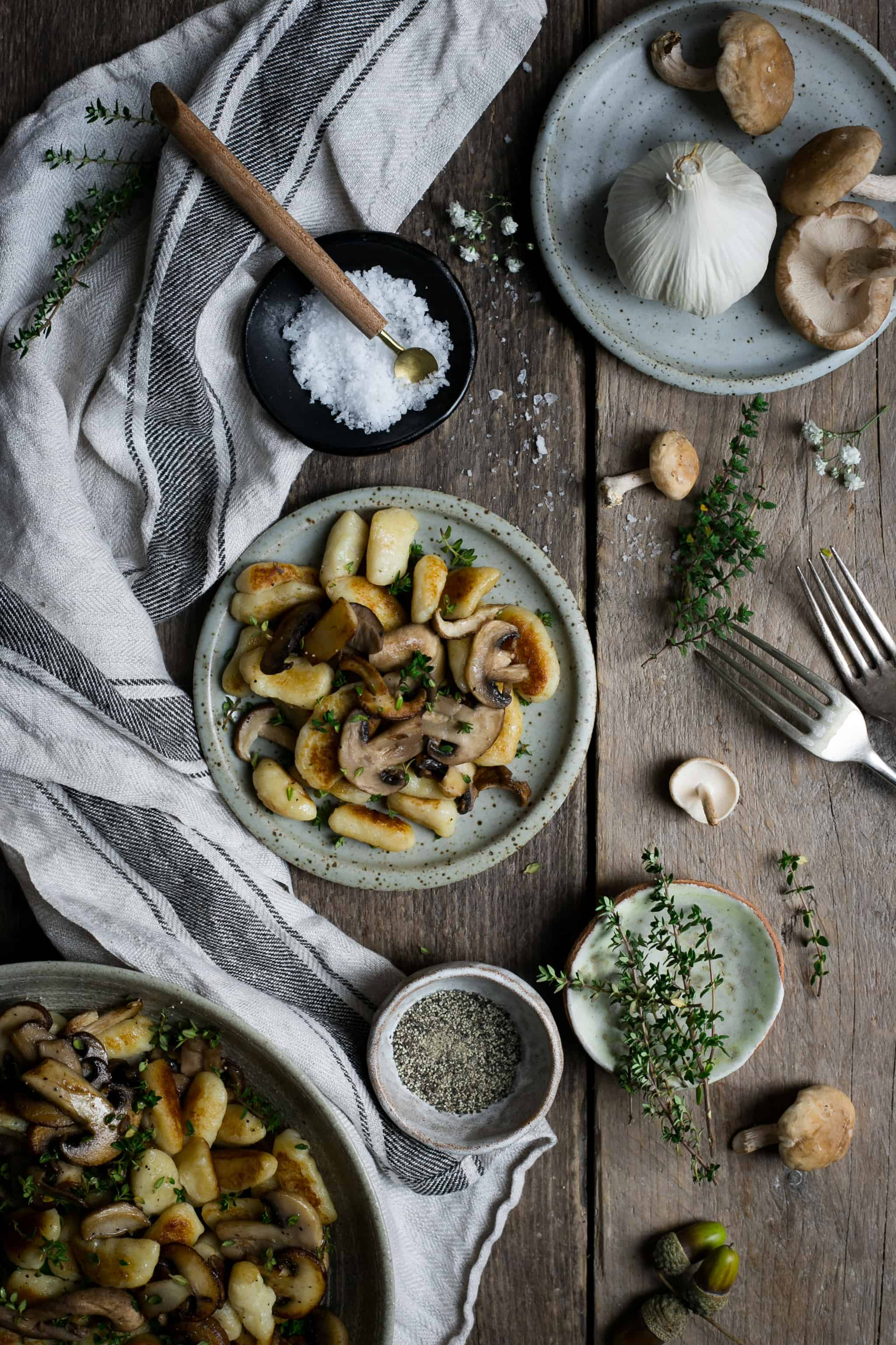 Mushroom gnocchi with fresh thyme | via @annabanana.co