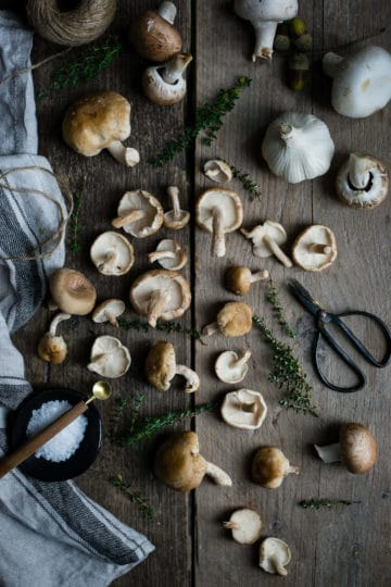Mushroom Gnocchi with thyme and white wine   via @annabanana.co