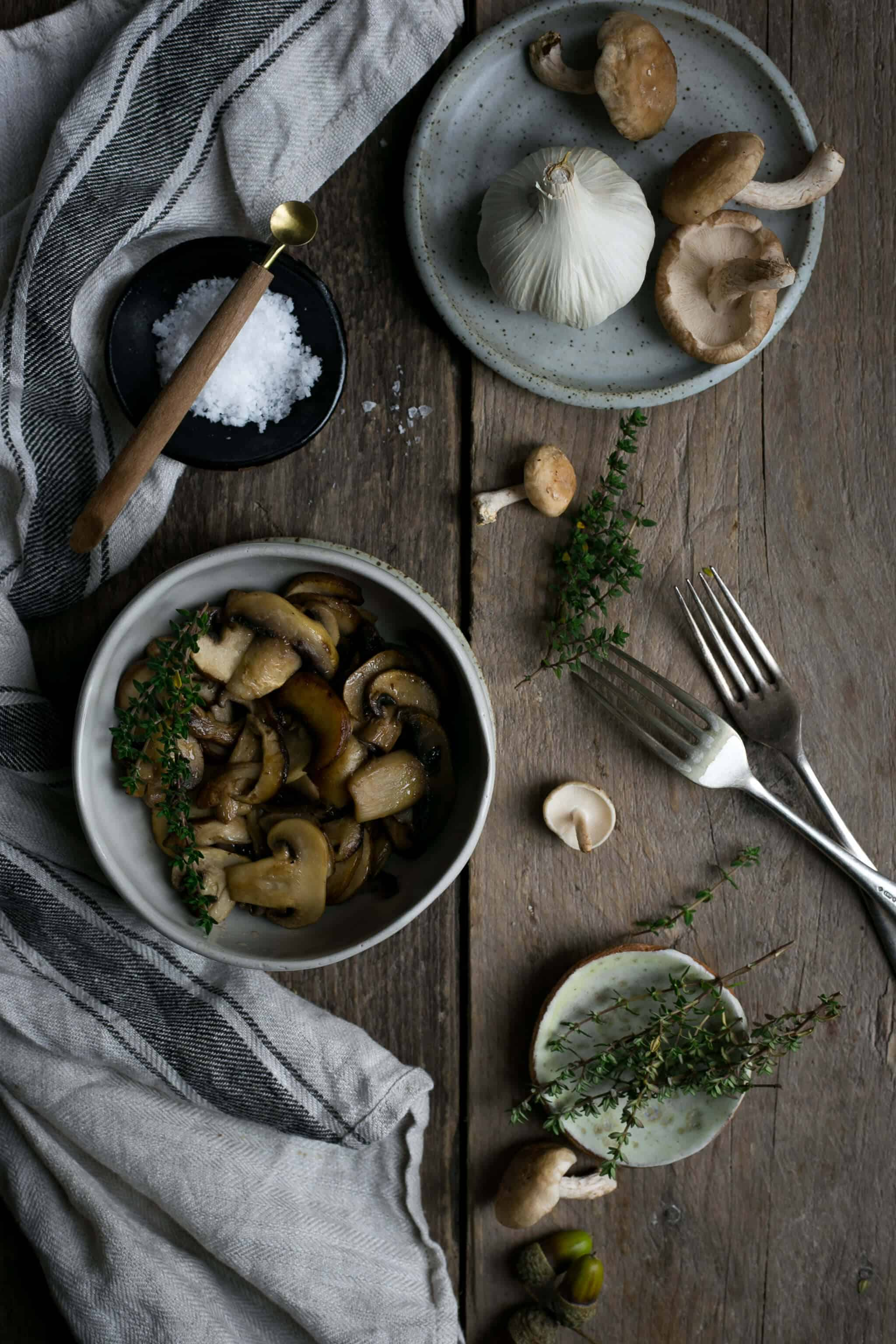 Mushroom gnocchi with thyme | via @annabanana.co