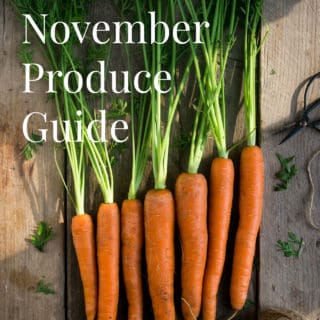 What's in season? November produce guide with best #recipes to try this month! #vegan #vegetarian | via @annabanana.co