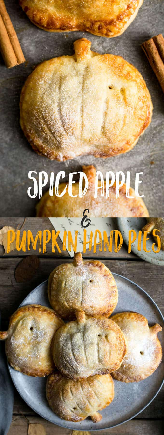 Spiced apple and pumpkin hand pies recipe #vegan #pie | via @annabanana.co