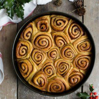 Vegan sweet potato cinnamon rolls. Super soft and fluffy! #vegan #cinnamonrolls #recipe | via @annabanana.co