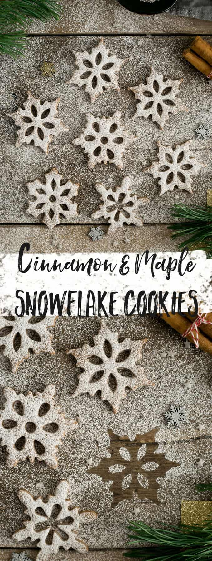 Delicious and festive cinnamon and maple snowflake cookies! #cookies #vegan #Christmas | via @annabanana.co