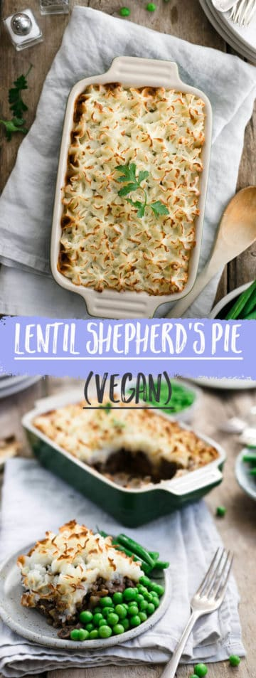 This vegan shepherd's pie is a comfort food at its best! Made with lentils and topped with mash potato, will satisfy even the biggest hunger! #vegan #shepherdspie #veganpie #dairyfree | via @annabanana.co