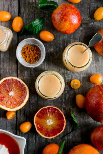Quick and easy vegan blood orange curd recipe #dairyfree #vegan #curd | via @annabanana.co