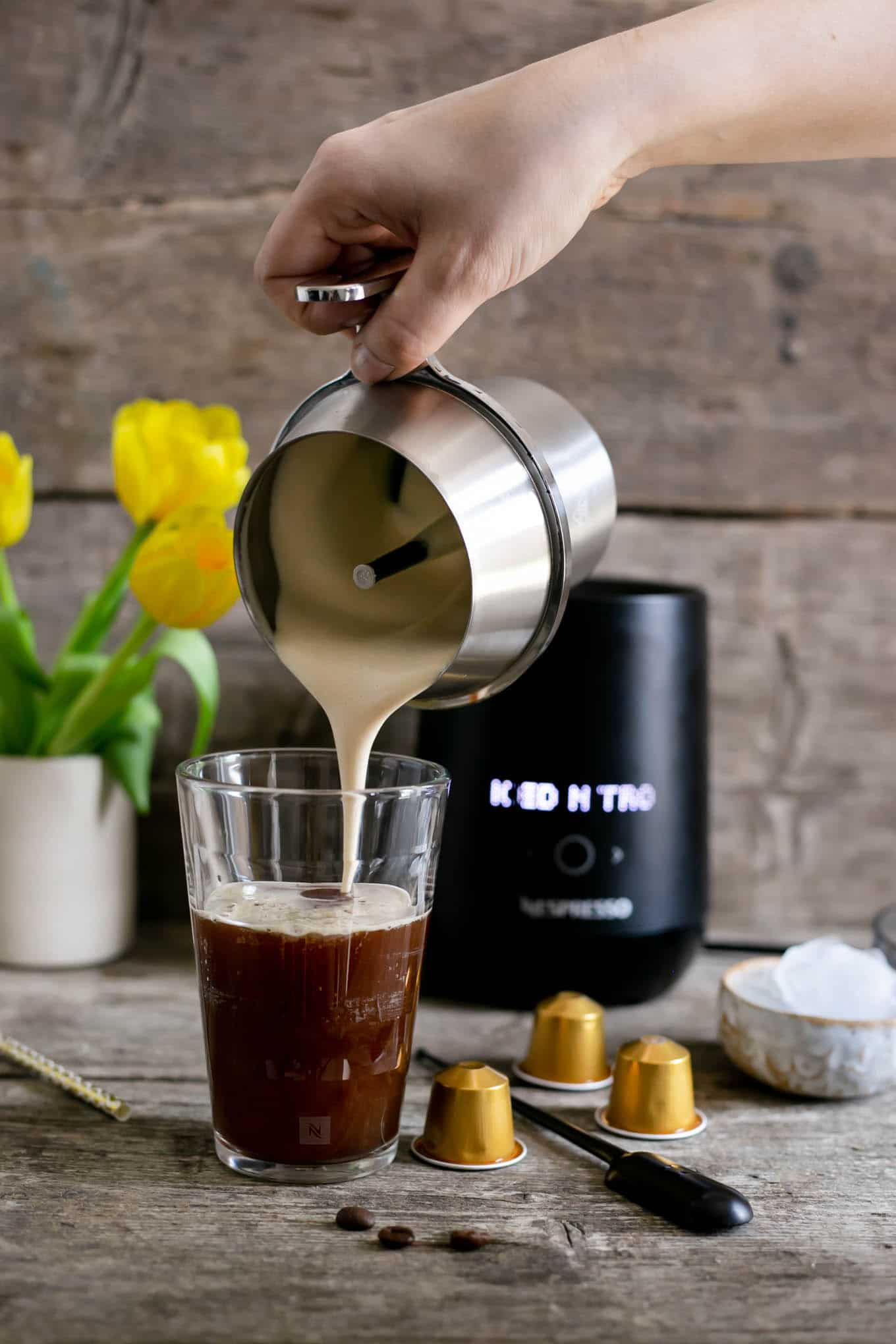 Nespresso coffee recipes using Barista drink maker #coffee #coldbrew | via @annabanana.co